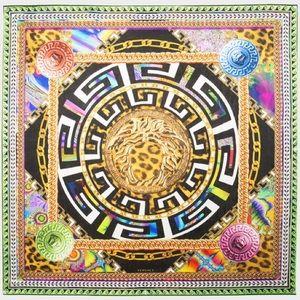 Versace • psychedelic medusa silk scarf